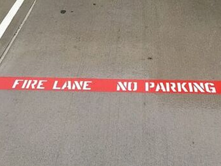 Fire lane striping in your parking lot in El Paso, TX